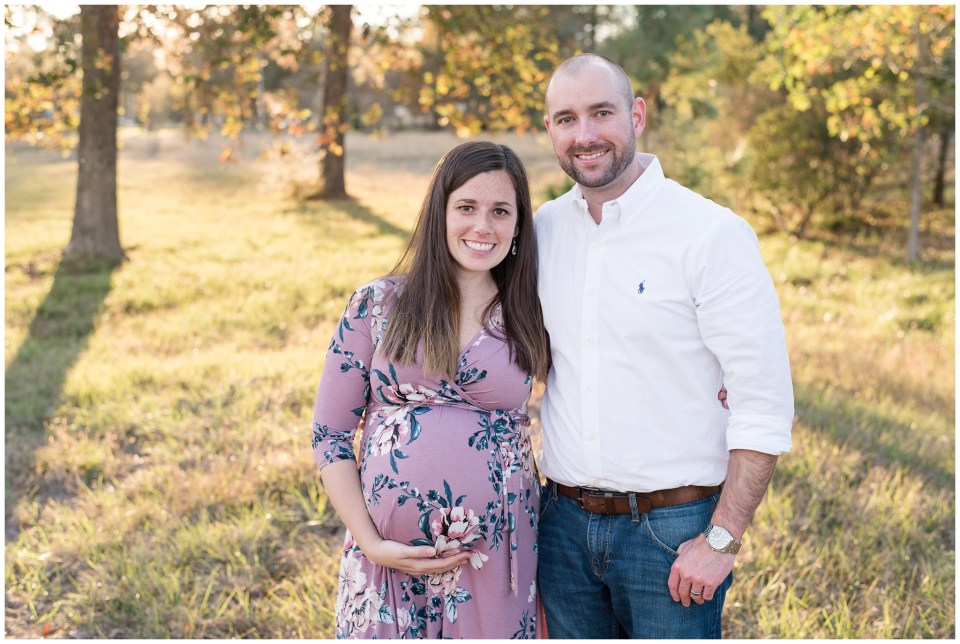 Kingwood family photographer - fall maternity portrait session for Little Ones client in Kingwood