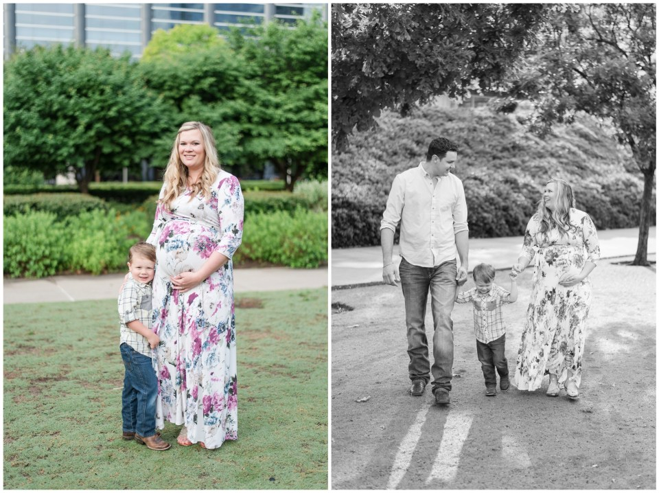 Houston family photographer - early morning maternity portrait session