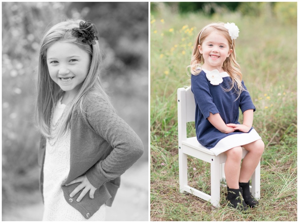Kingwood family photographer mini session with family of four in natural, outdoor setting