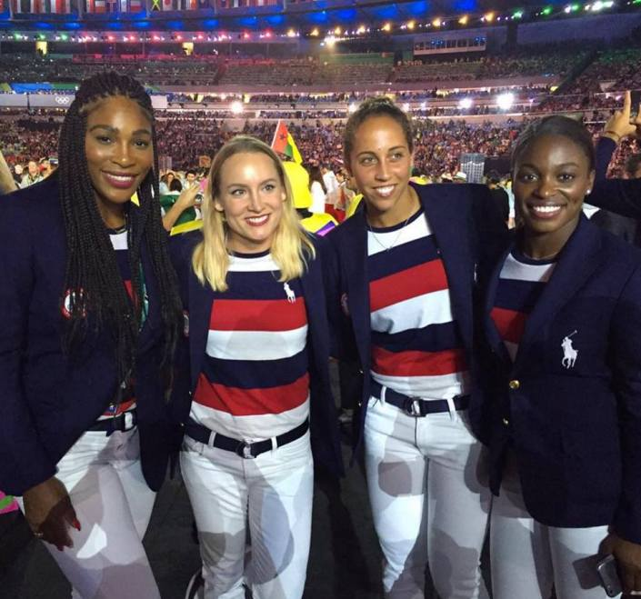 williams, mattek-sands, keys, stephens - rio 2016 opening ceremony