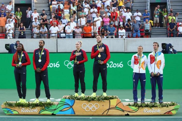 Mixed Doubles Medal Ceremony | Rio 2016 Olympics