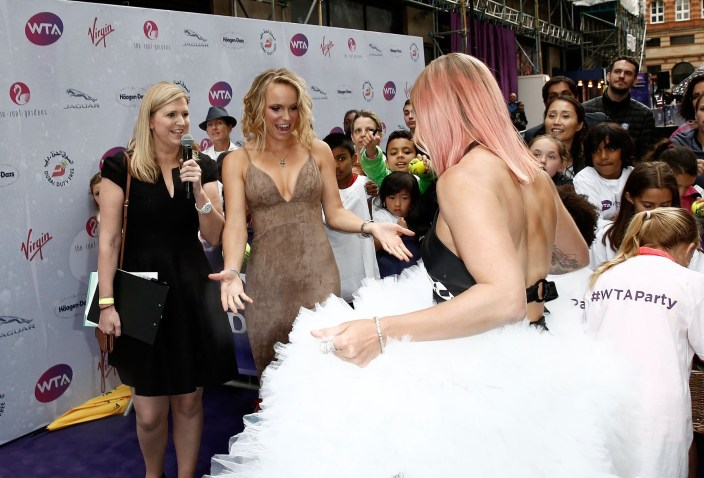 bethanie mattek-sands and caroline wozniacki wimbledon red carpet