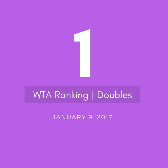 bethanie mattek-sands WTA Doubles World No.1