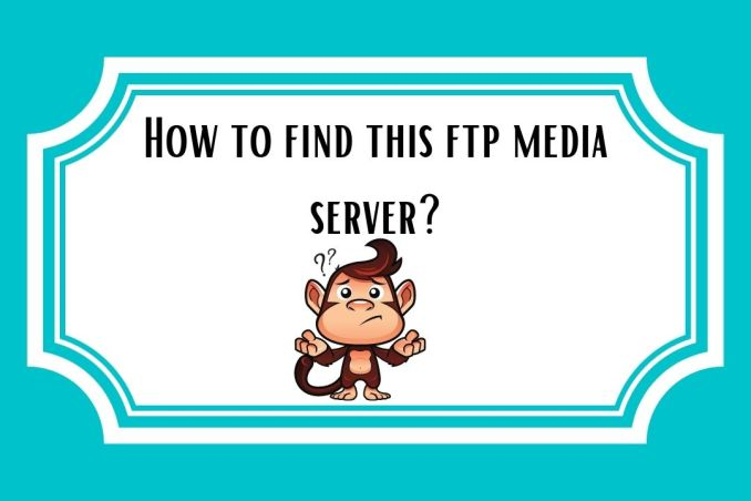 How to find this ftp media server