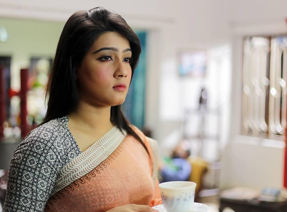 Mahia Mahi in Krishnopokkho film directed by meher afroz shaon