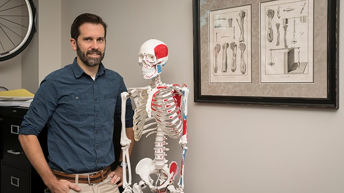 UD's Christopher Price is working with a research team to learn more about how cartilage works.