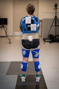 Student wearing sensors