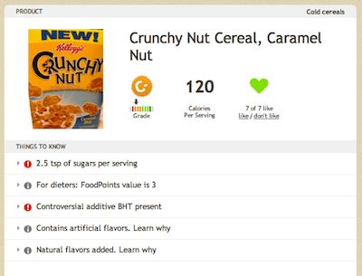 Kelloggs Crunchy Nut Caramel Nut Cereal