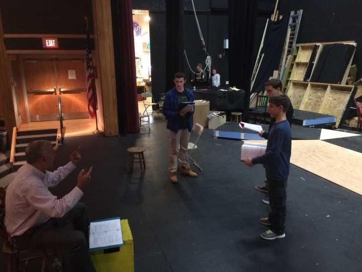 "Mr. Jacob directs his actors in the upcoming performance of ""Great Expectations."""