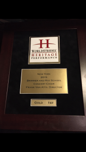First-place plaque.