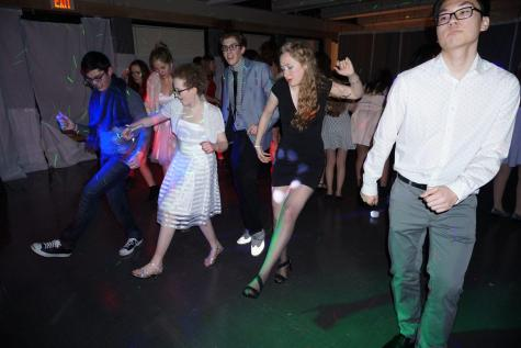 Students Party in Winter Wonderland