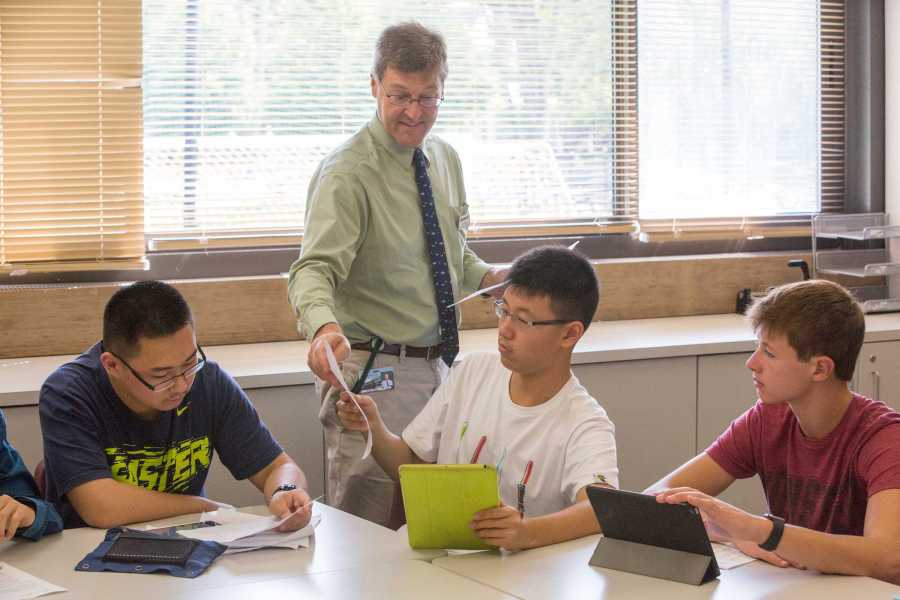 Humanities Co-Chair Donald Reese teaches AP English Language. Photo by David Barron.