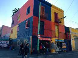 Students visited La Boca, a neighborhood in Buenos Aires. Photo by Abigail Mynahan '19.