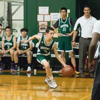 Tal Breiman '21 goes for two. Photo by David Barron.