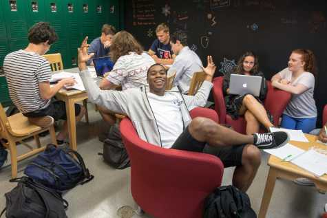 Seniors hang out in their lounge. Photo by David Barron.