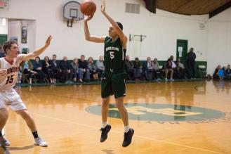 Tal Breiman shoots for two. Photo by David Barron.