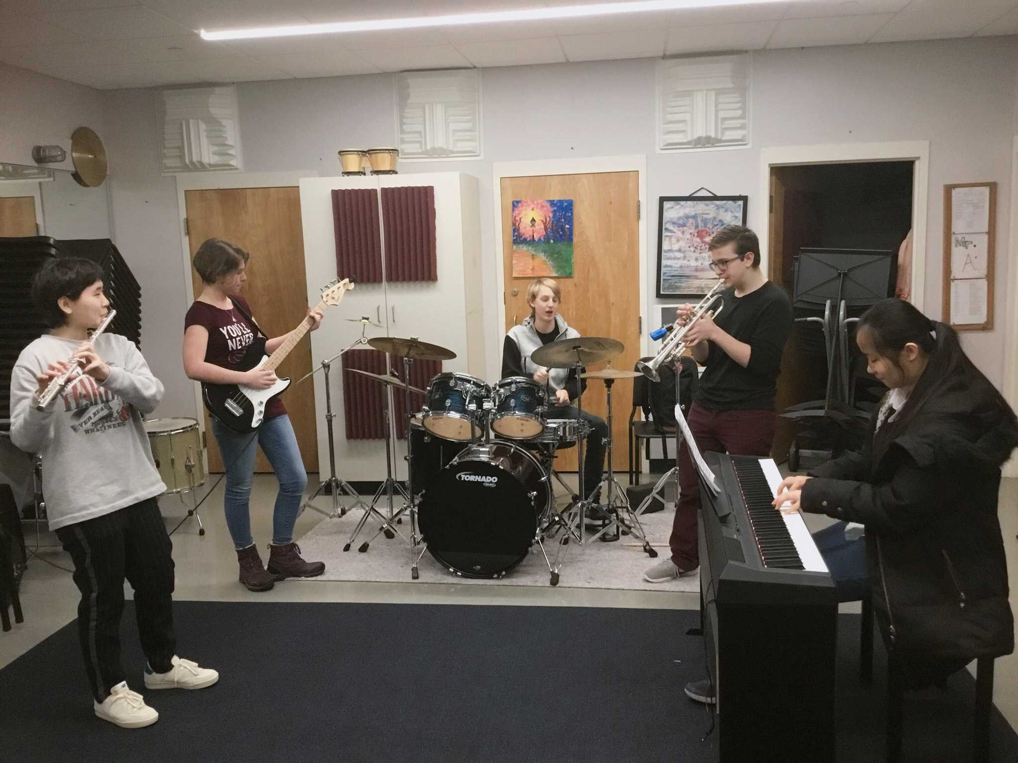 Band+students+play+and+learn+to+compose+jazz.