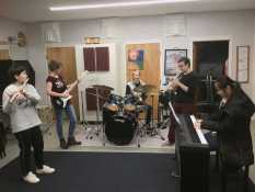 Band students learn to compose their own music. Photo by Luca Antonucci.