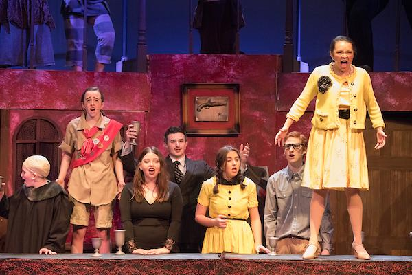 Students perform a number in recent production of 'The Addams Family.' Photo by David Barron.