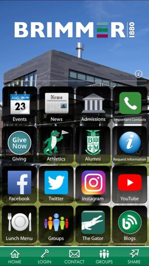 Screenshot of the new Brimmer and May School app. Gator file photo.