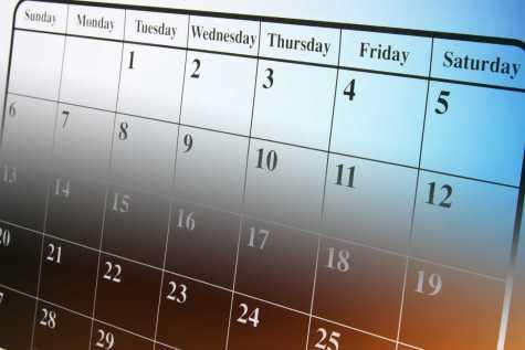 Close Up of Calendar in Warm Tones