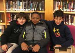 Middle schoolers hanging out in the Learning Commons. Photo By Sita Alomran '19.