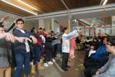 Upper School students learn Tai Chi. Photo by Frances Fremont-Smith '19.