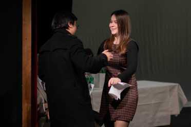 Jason Zhu '21 and Megan Stander '20.