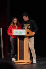 Chloe '20 and Miles Munkacy '20 introduce the panelists.