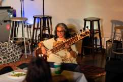 Meena Kumar P. '22 plays the Sitar.