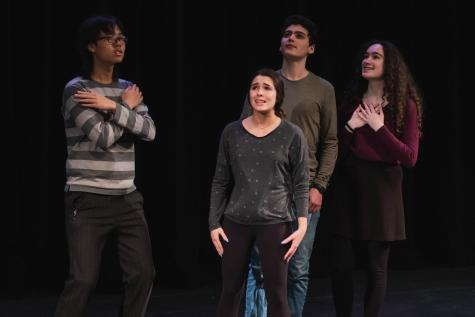"The Musical Theatre class poses in their group number, ""Security Meltdown"" from Calvin Berger (2006)."