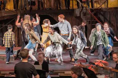 The Poor Ensemble dances in the Act One Finale. g the 7th Grade to travel to Washington D.C. next week. All other school trips through the summer have been cancelled. We are also actively help