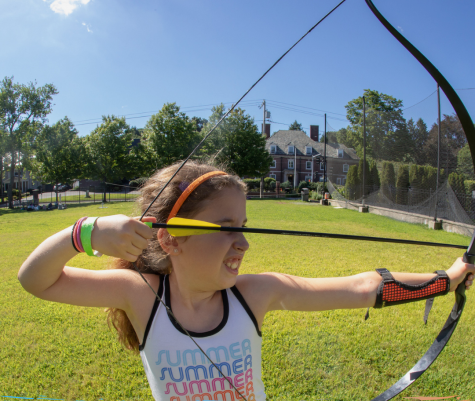 A 2019 camper practices her archery. For the first time since the summer program lunched, nearly 30 years ago, it will remain closed this summer.