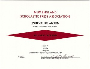 Gator Wins 16 NESPA Awards, Most Ever for Newsroom