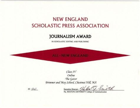 Gator Wins 16 NESPA Awards, Most Ever for Newsroom
