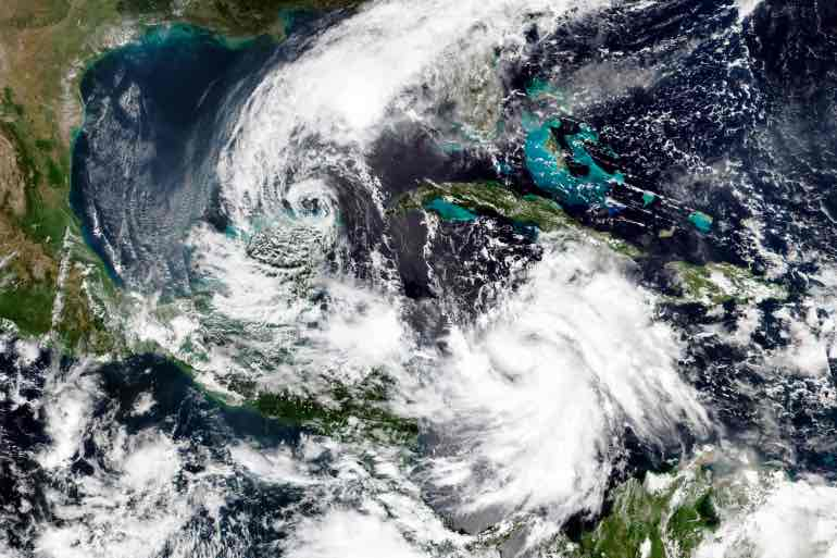 Hurricane+Delta+and+Tropical+Storm+Gamma+in+October+2020.+Photo+courtesy+of+Wikimedia+Commons.
