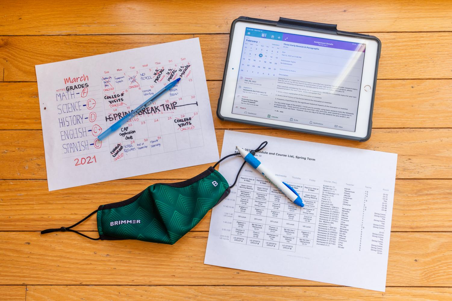 The pandemic has made academic planning more difficult for students and faculty. Photo illustration by Edan Zinn