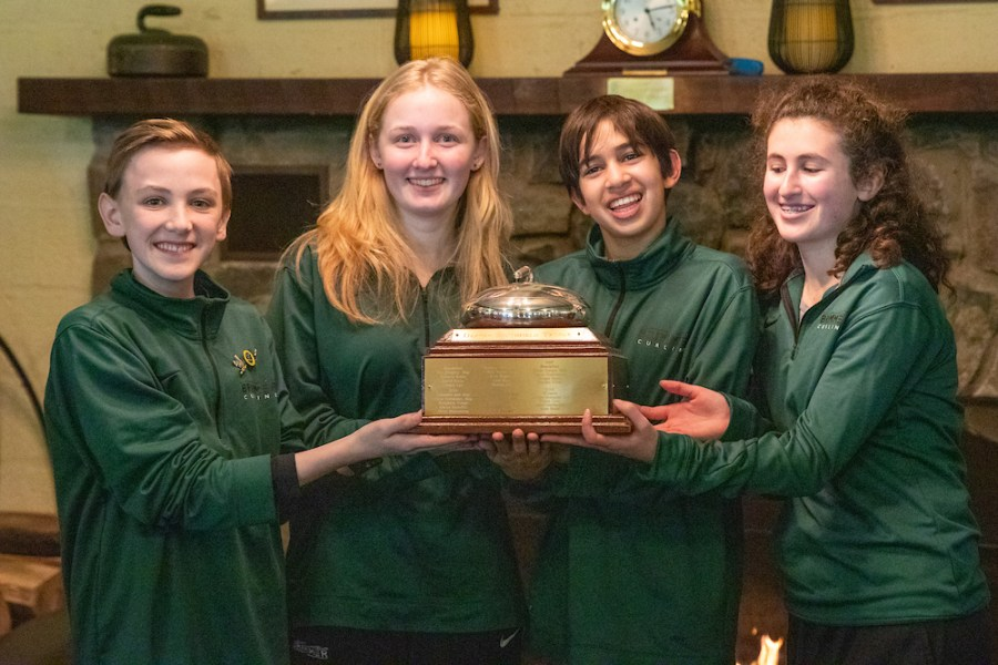 My curling team after winning the Class B championship junior year.