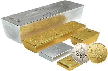 Buy gold, silver, platinum bars, coins