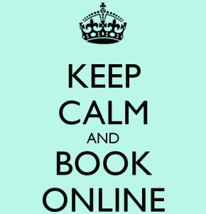 Keep Calm and Book Online