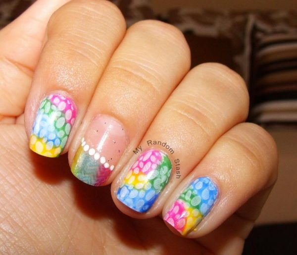 Diy Rainbow Easter Nail Designs