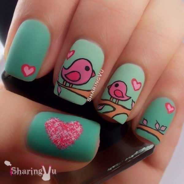 Cute Mothers Day Nail Art Bmodish Dot
