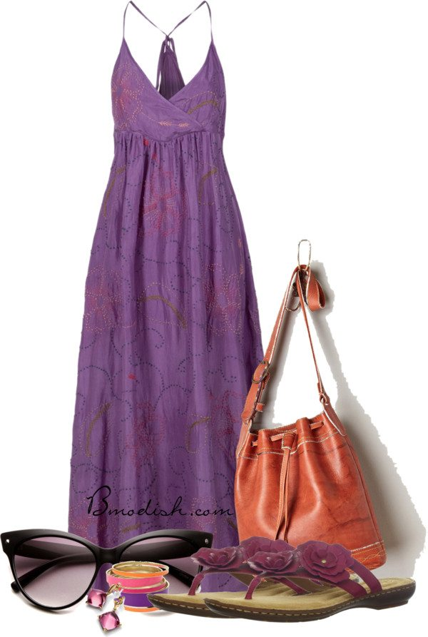 25 Maxi Dress Outfits Polyvore Combinations