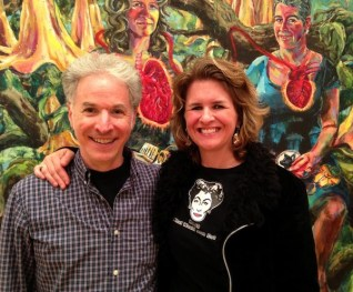 Craig Hankin and Joan Cox at her solo show, Taboo at Goucher College