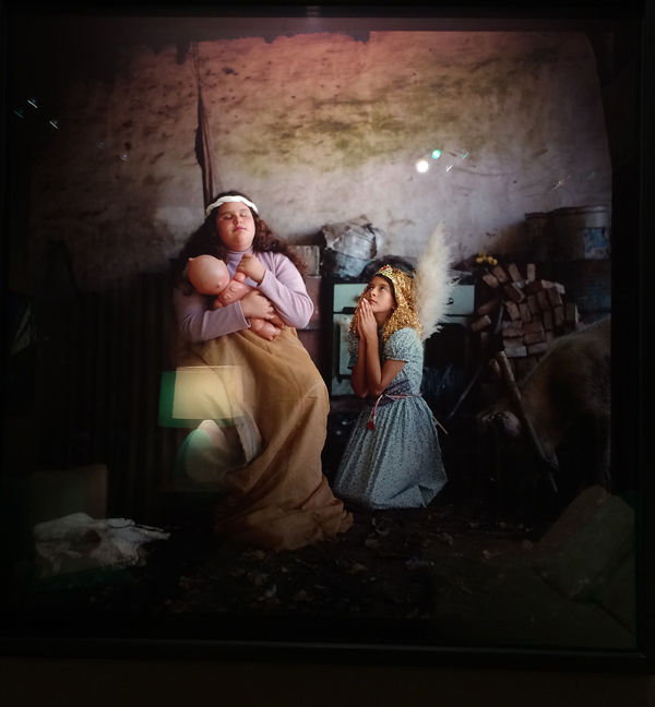 """Alessandra Sanguinetti, Madonna and Child, 2001, From """"The Adventures of Guille and Belinda and the Enigmatic Meaning of Their Dreams,"""" print No. 42, Cibachrome Print, signed, numbered (1 of 8), titled and dated on verso 30 x 30"""""""