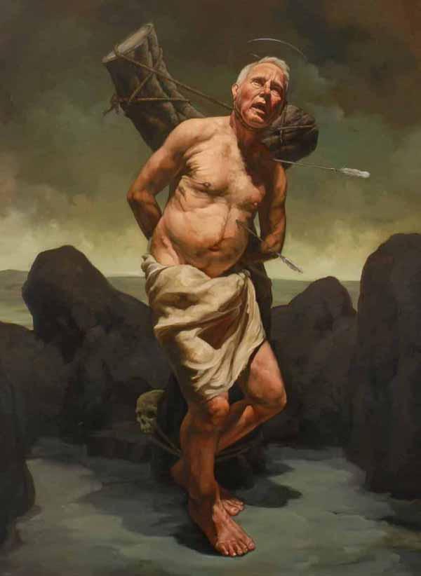 "Erik Sandberg, St. Sebastian, 2006/07, Oil on Canvas, 54 1/2 x 40"""