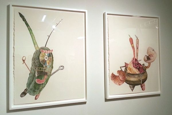 Alfred Steiner at Gallery Poulsen (actually watercolor on paper, but referencing collage)