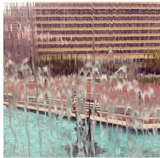 A view from inside the Fountain in October, 2014