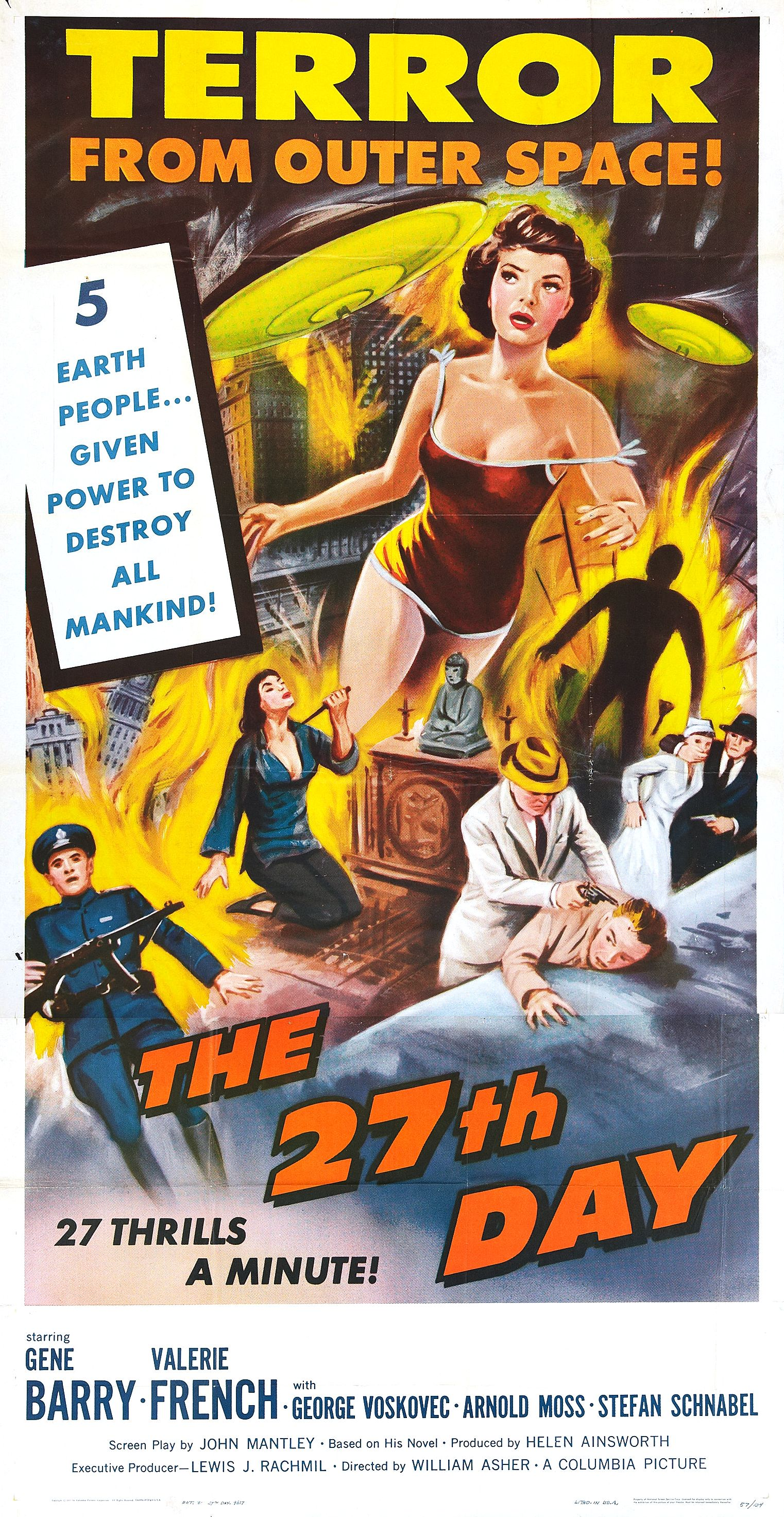 #BMovieManiacs Event: The 27th Day (1957)