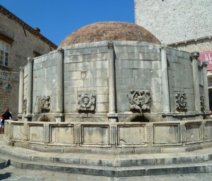 Fountain with drinking water